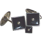 Art Deco Lambournes (B'ham)  Cuff Links and Tie Stud Made in England circa l930