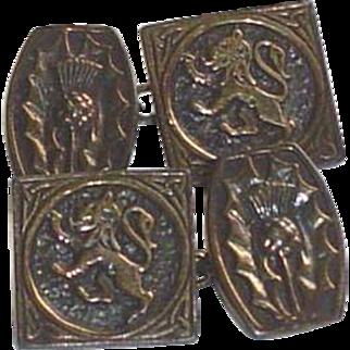 Vintage Scottish Sterling Silver John Hart Iona Cuff Links
