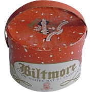 Vintage Biltmore Doll Hat and Hat Box
