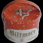 Vintage Biltmore Doll Hat and Hat Box