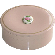 Vintage Pink Powder Box Ladies Compact Vanity