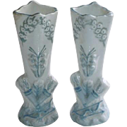 Vintage Doll Pair of German Mantle Vases for Doll House