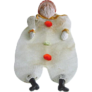 Vintage Christmas Mesh Santa Container with Celluloid Face c1930