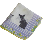Vintage Scottie Dog Hankie Hanky