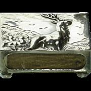 Art Deco Sterling Silver Match Safe Vesta