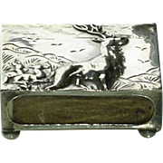 Art Deco Sterling Silver Match Safe Vesta