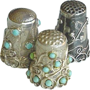 Vintage Sterling Silver Mexican Mexico Thimbles