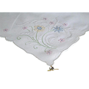 Vintage Pair Madeira Hankies with Original Metal Tags