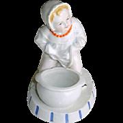 Antique Victorian Baby Porcelain Match Striker