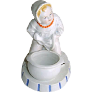 Antique Victorian Baby Porcelain Match Striker