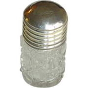 Antique Crystal and Sterling Silver Perfume Bottle 1908