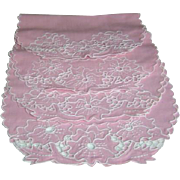 Vintage Pink Linen Placemats