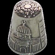 Vintage Sterling Silver Jerusalem Thimble