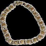 Vintage 10K Gold Bracelet with Hearts