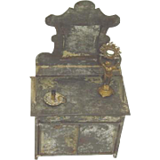 Antique Doll House Tin Dresser