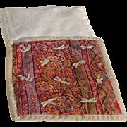 Antique Hand Made Doll Quilt Mattress and Pillow c1890