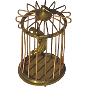 Antique Brass and Copper Doll House Bird Cage