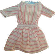 Antique Hand Sewn Candy Stripe Doll Dress