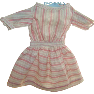 Antique Hand Sewn Candy Stripe Doll Dress