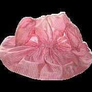 Antique Hand Sewn Silk Candy Stripe Doll Dress c1870