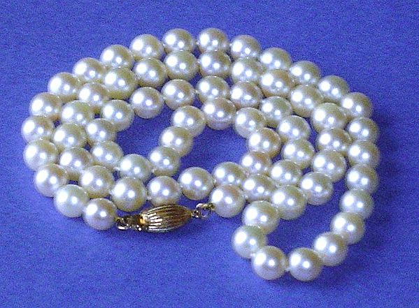 "Vintage 20"" Strand of 6.5mm - 7.0mm Cultured Pearl Necklace"