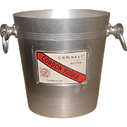 Bistro Champagne Bucket France Early 1900's Aluminium Reims