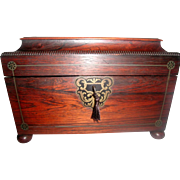 Rosewood Tea Caddy 19th C England Exquisite
