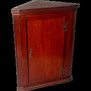 English Corner Cabinet C.1875 Mahogany Hand Made