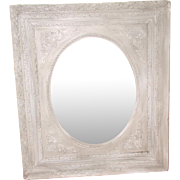 Original Mottled Glass Mirror 19th Century