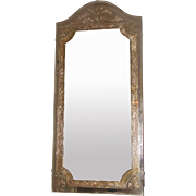 Beveled Foil Mirror 20th Century Unusual