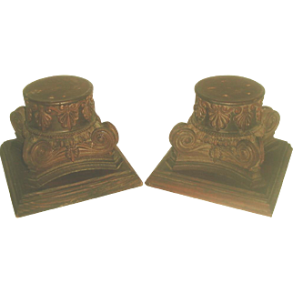 Walnut Plateau Capitals Hand Carved 19th C