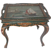 Nautical Coffee Table Italy Early 1900's Hand Painted