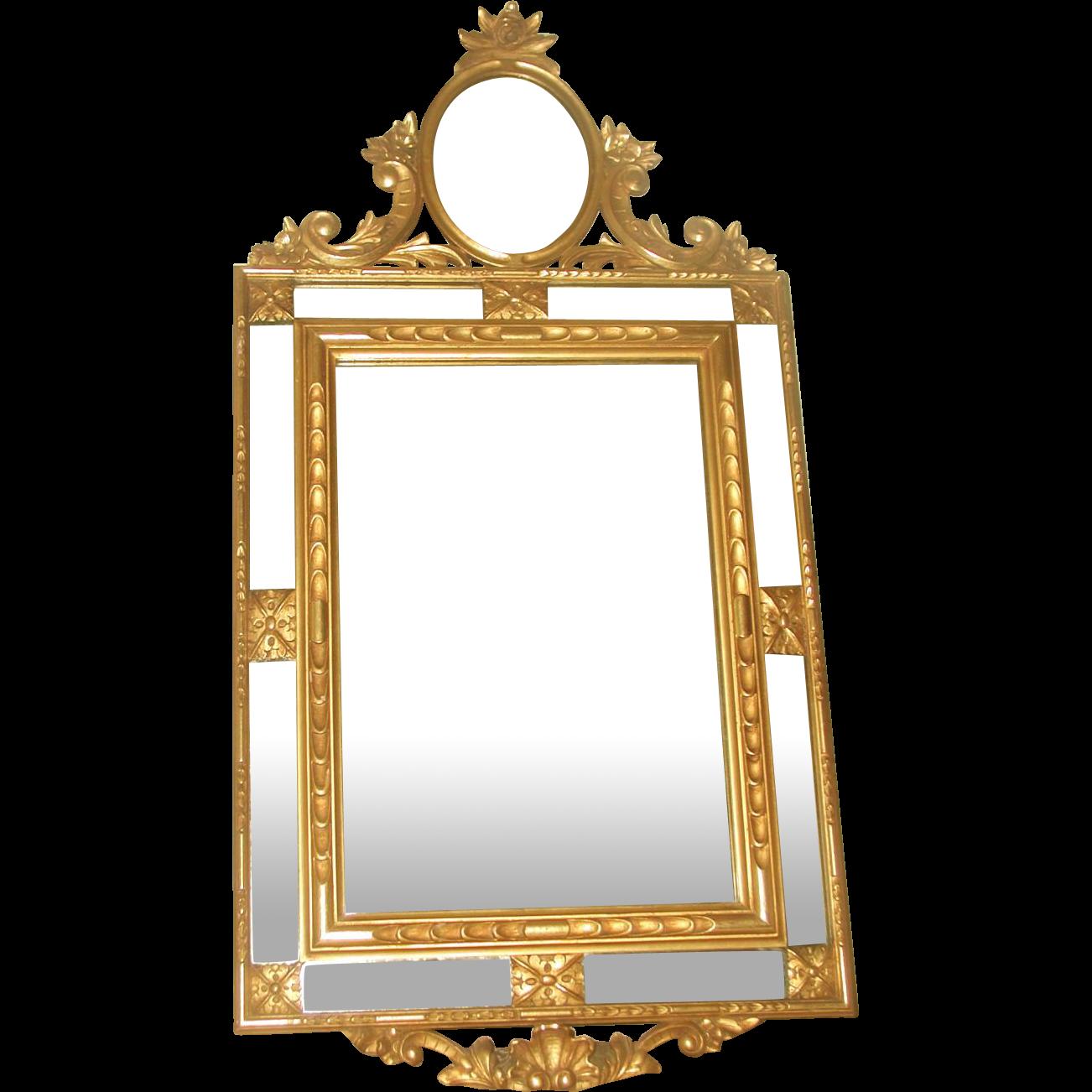 Italian Gilt Mirror Paneled C.1890-1910