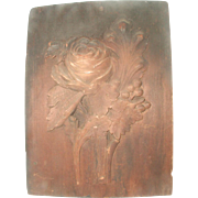 Wooden Plaster Mold France 18th C Large Floral Hand Carved