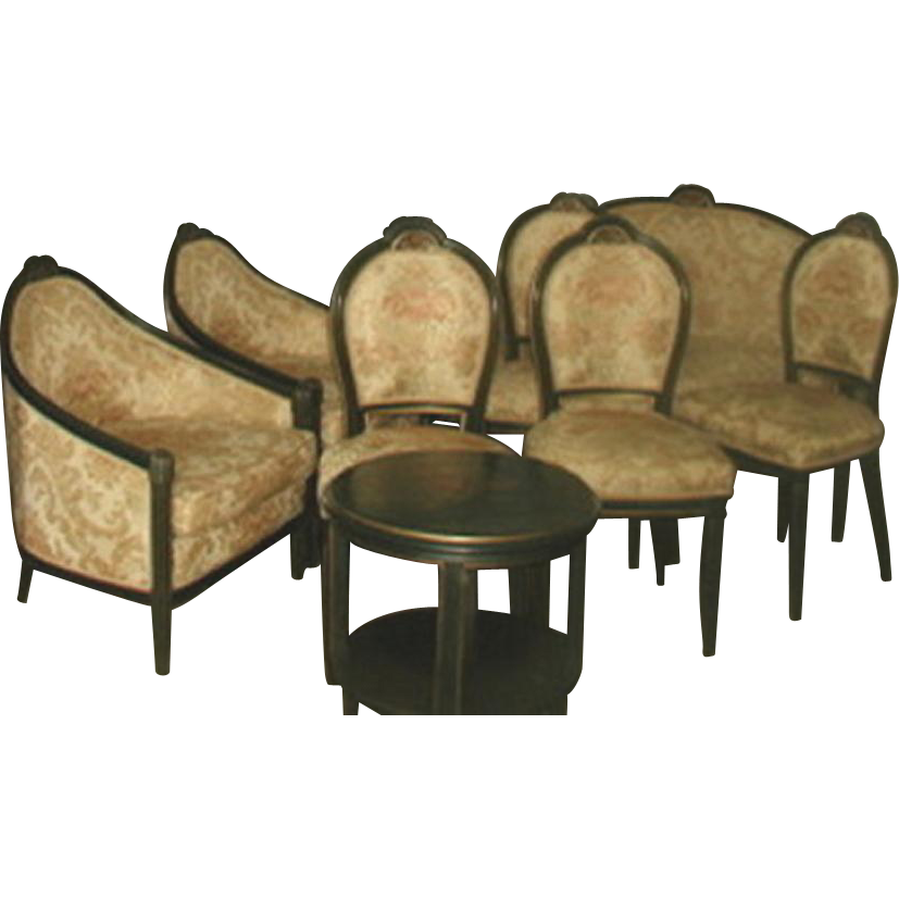 Italian Parlor Set 10 Piece 18th Century New Upholstery