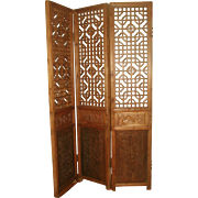 Qing Dynasty Screen Temple C.1753 Wooden Hand Carved