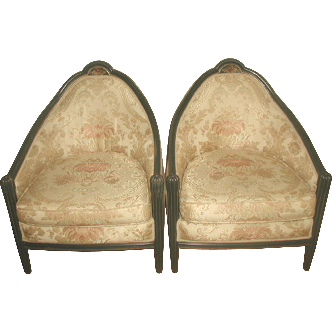 Pair Side Chairs 18th C Italian Parlor