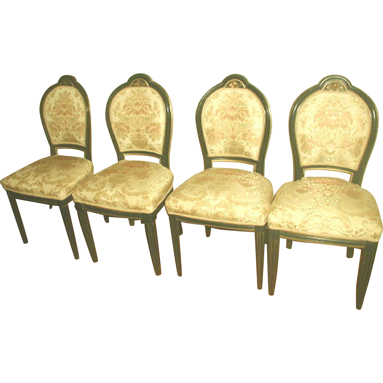 4  Italian Side Chairs 18th Century Parlor Set