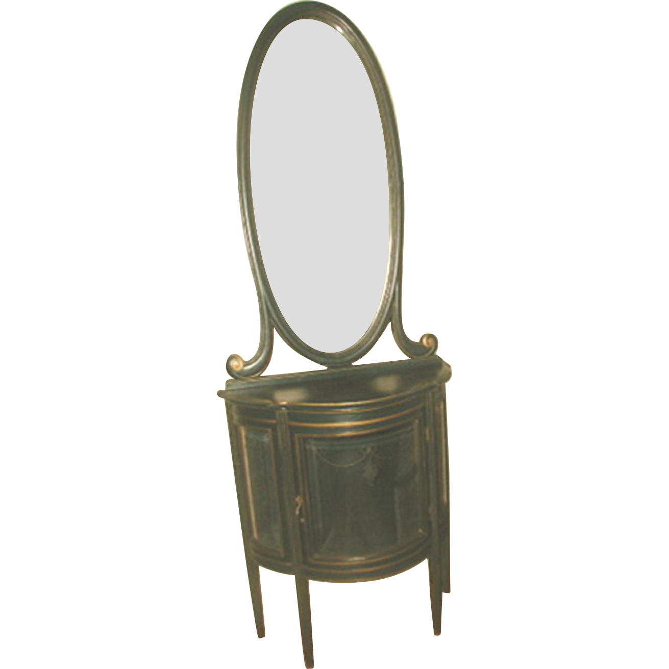 Italian China And Mirror Etched 18th Century Parlor