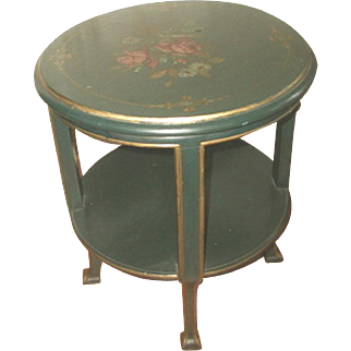 Coffee Side Table Italy 18th Century Hand Painted