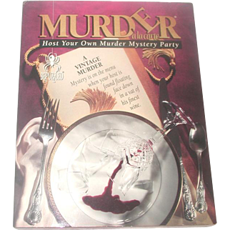 Complete Vintage Murder Mystery Party Game For 6