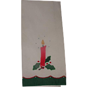 Appliqued & Embroidered Christmas Guest Hand Towel