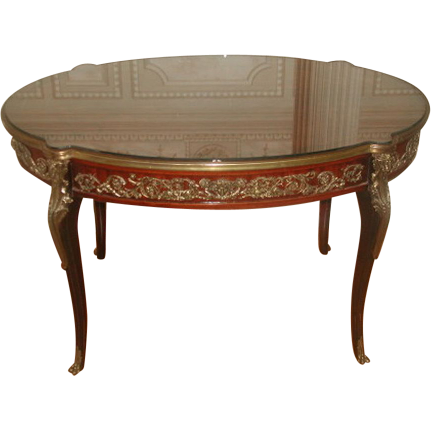 Italian Coffee Table Inlaid With Mounts 19th Century From Rubylane Sold On Ruby Lane
