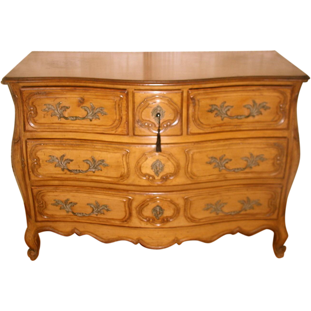 French Fruitwood Chest Five Drawer 30;s-40's Fabulous