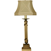 Neoclassical Column Lamp Metal 3 Way