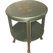 Coffee Side Table Italian Parlor 18th C Hand Painted