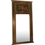 French Trumeau Mirror C.1860-70 Carved Black Gilt Bronze