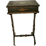 Sewing Table Chest France 18th Century Decorative Hand Painting