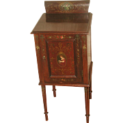 Walnut Painted Chest Table Petite C.1900
