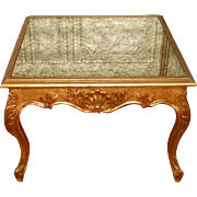 Coffee Side  Table French Gilt Mirrored Top 19th C Unusual